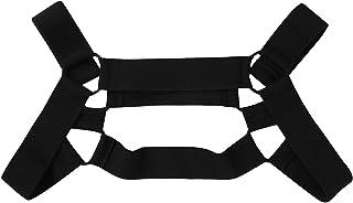TiaoBug Men's Nylon Elastic Shoulder Body Chest Muscle Harness Straps Costume Belt Tops Accessories
