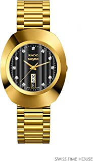 Rado Men's Black Dial Color Metal Strap Watch - R12304313