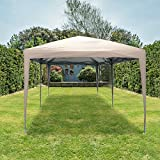 Quictent Privacy 10x20 EZ Pop Up Canopy Tent Party Tent Outdoor Event Gazebo Waterproof with Roller Bag- 4 Colors (Beige)