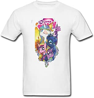 OMMIIY Men's The Beast Within My Little Pony Friendship Is Magic T-Shirt