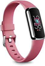 Fitbit Luxe Fitness and Wellness Tracker with Stress Management, Sleep Tracking and 24/7 Heart Rate, Orchid/Platinum Stainless Steel, One Size (S & L Bands Included)
