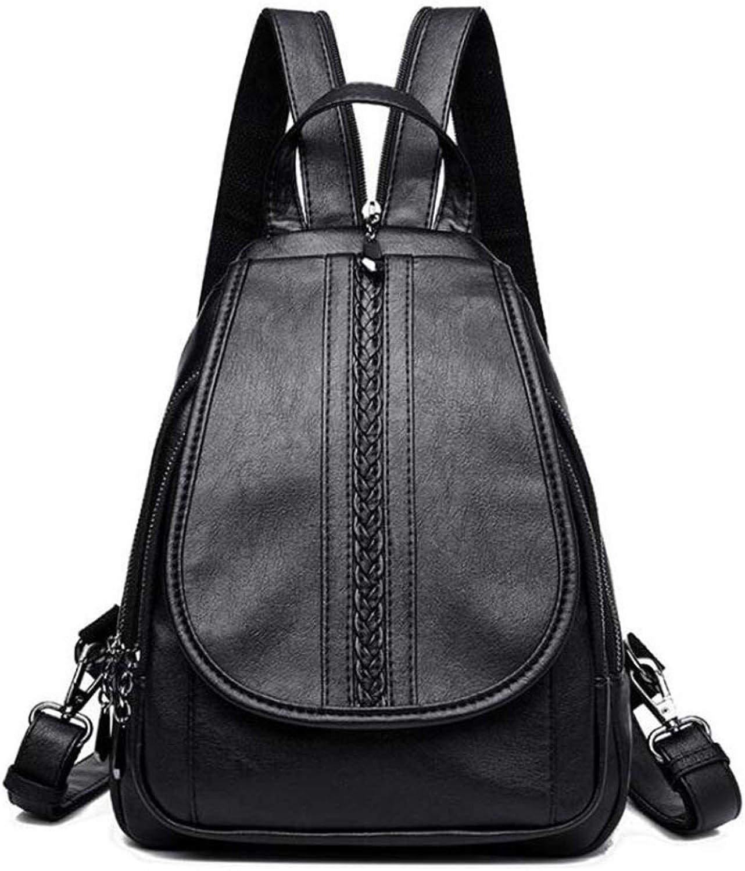 Women's Backpack, Multifunctional Ladies Backpack Shoulder Lightweight Bag Handbag Shoulder Portable Bag Messenger Bag (color   A, Size   31  26  12cm)