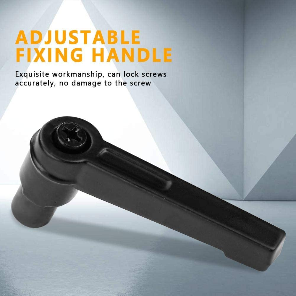 with Corrosion Resistant and Wear-Resisting 95mm 4PCS Metal Machine Knobs Adjustable Fixing Handle M12 Female Thread Clamping Lever Handle for Machine Tool M5 50