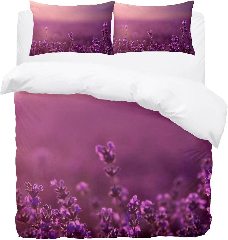 Dragon Sword 3PCS Bed Sheet Printed Ranking TOP7 Microfiber Lavender Comf Industry No. 1 Set