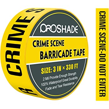 Crime Scene Do Not Cross Barricade Tape 3 X 1000 /• Bright Yellow with a bold Black Print for High Visibility /• 3 in wide for Maximum Readability /• Tear Resistant Design