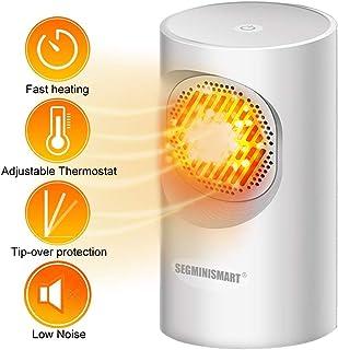 Calefactor Cerámico Eléctrico,Mini Calefactor Cerámico,Calefactor Eléctric,Calefactor Eléctrico de Aire Personal,Calentador de Ventilador portátil,Mini Calentador de Mesa Calentador de cerámica