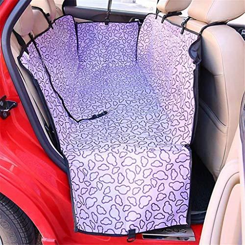 Bqy hond auto stoelhoezen hond auto stoelhoezen huisdier Oxford doek auto huisdier stoelhoezen hond auto achterbank waterdichte huisdier pad opknoping matrasbeschermer, Paars
