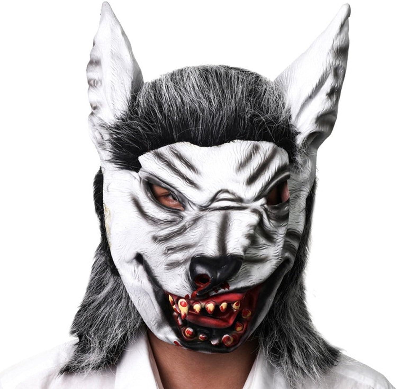 JTWJ Simulation Wolf Kopf Maske Halloween Horror unheimlich Tier Maske hochwertigen Latex mit Kapuze Tanz Party Leistung Requisiten B07JC2BNLW Optimaler Preis  | Billig