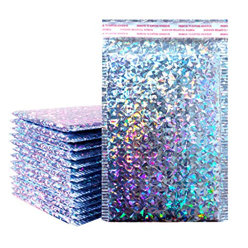 FeiliandaJJ 50Pcs Gepolsterte Briefumschläge Seal Bubble Taschen Wasserdicht Selbstklebend Bubble Versandbeutel Plastik Luftpolstertaschen Bubble Mailer (Bunt, 18 * 23cm)
