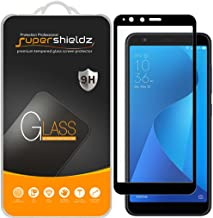 (2 Pack) Supershieldz for Asus Zenfone Max Plus (M1) ZB570TL Tempered Glass Screen Protector, (Full Screen Coverage) Anti Scratch, Bubble Free (Black)