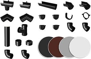 comprar comparacion RainWay90 - Canalones para canalones (plástico PVC, para tejados de hasta 100 m²), color marrón