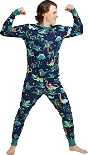 Wisson Conjunto de Pijamas Familiares navideños, Conjunto de Ropa de Dormir con Estampado de Dinosaurio, Pijamas cómodos d...