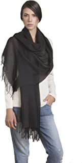 KUNA Japones Lightweight Scarf/Shawl with fringes | Alpaca Blend from Peru | Ethically Sourced | Limited Production