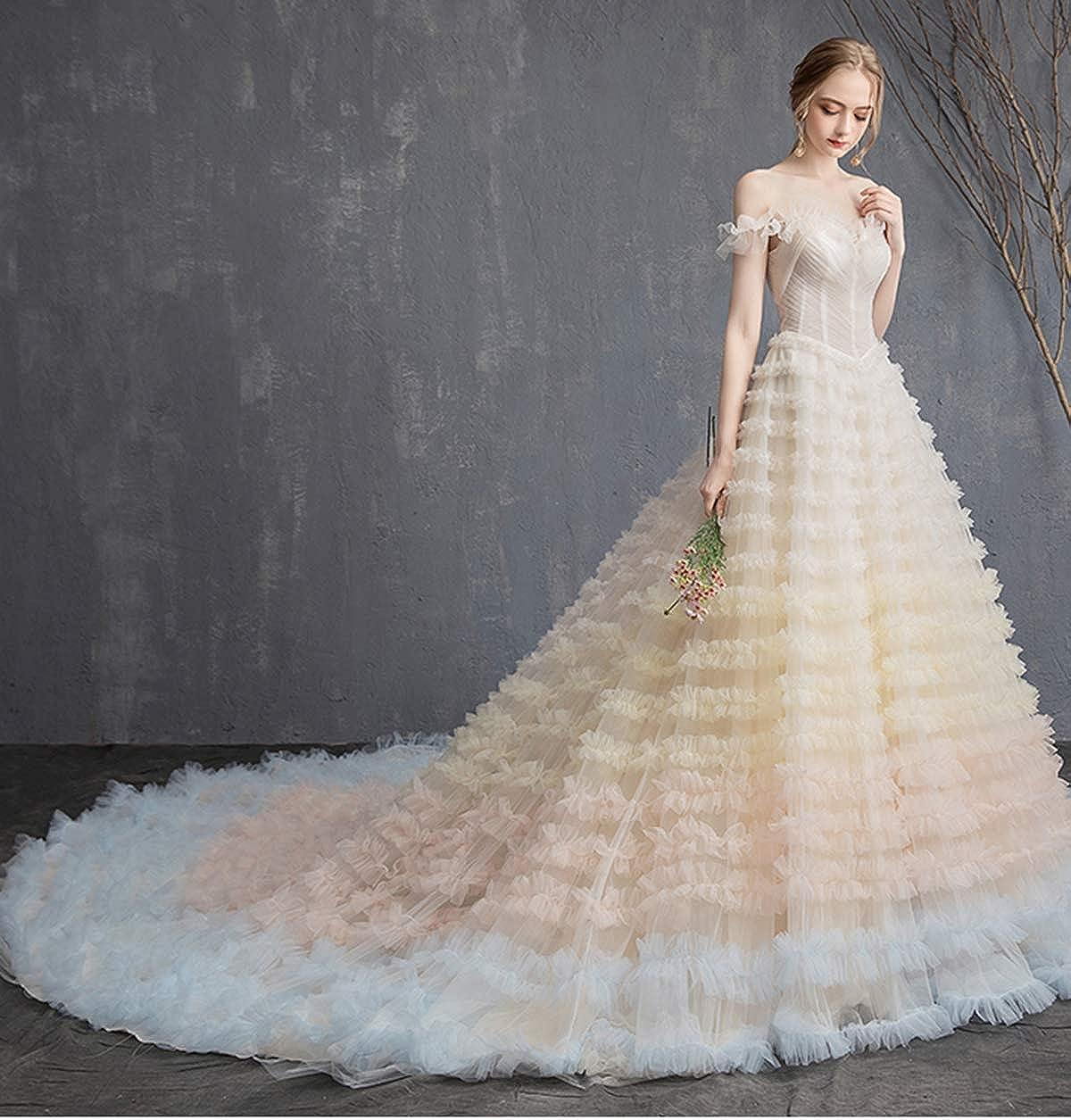 YUAKOU Womens Tulle Petticoat Crinoline Half Slip Underskirt for Bridal Dress