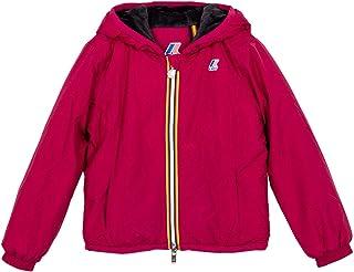 K-WAY K009NQ0 - Chaqueta de Invierno para niña, Color Rojo Burdeos 10 años