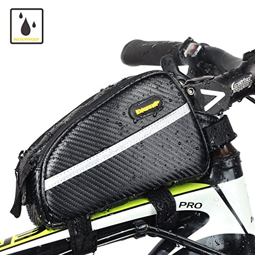 Bike Frame Bag, Top Tube Bike Bag Pouch Waterproof and Stable Bicycle Handlebar Bag Professional Cycling Accessories
