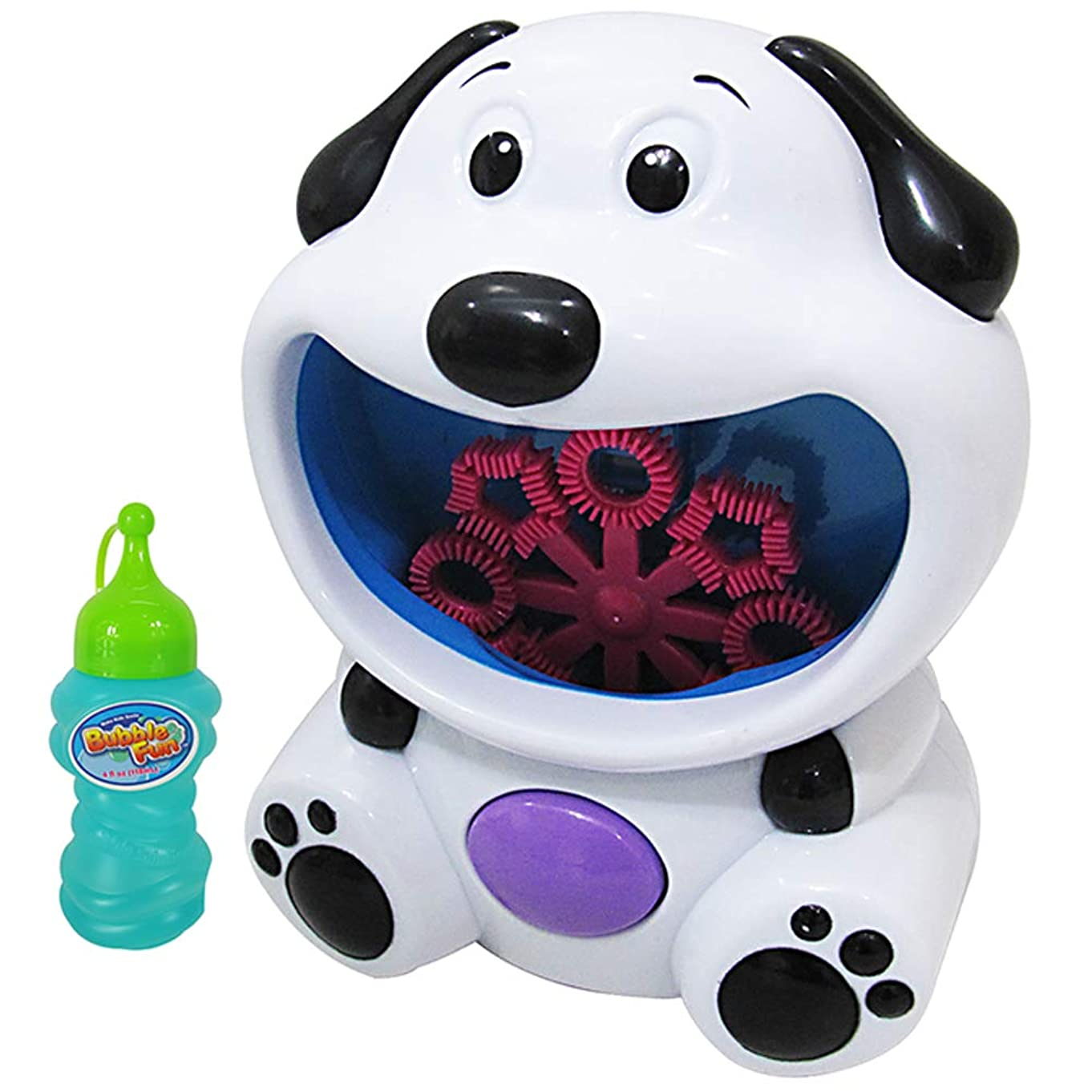 WisToyz Bubble Machine Baby Bath Toys Bubble Blower Hundreds of Bubbles per Minute,Bubble Machine for Kids Lovely 3D Dog Shaped Automatic Bubble Maker Machine 4 AA Batteries Needed (not Included)