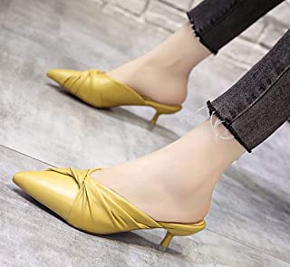 Fashion baotou slippers high heel PU versatile women's shoes