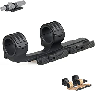 Canis Latrans Rifle Scope Mount 30mm/35mm Quick Release Dual Ring Tactical Optic Mount for 21.2mm Picatinny Weaver Rail Optics(Black)
