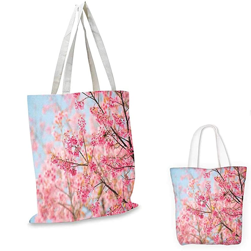 Floral royal shopping bag Japanese Sakura Cherry Blossom Branches Full of Spring Beauty Picture sloth shopping bag Pale Pink Baby Blue. 16