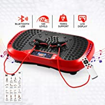 Zhihao Fitness Vibration Plate Remote Control LCD Display Bluetooth Connection Low Noise Slimming Machine Fat Burning Fitness Machine Foot Magnet Shiatsu Massager Color B Estimated Price : £ 469,54