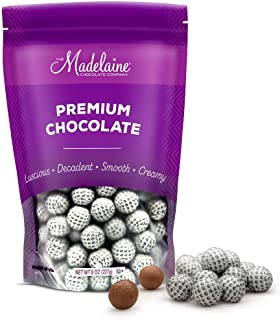 Madelaine Solid Milk Chocolate Golf Ball Party Favors Wrapped In Italian Foil (1/2 LB)
