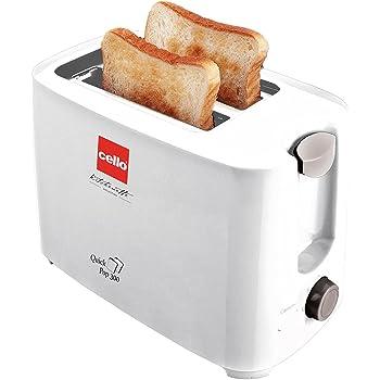 Cello Quick Pop Up 300, 700-Watt 2 Slice Toaster, White