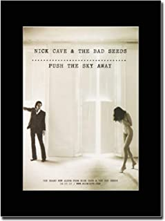 gasolinerainbows - Nick Cave & The Bad Seeds - Push The Sky Away - Matted Mounted Magazine Promotional Artwork on a Black Mount