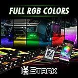 4 PCS - LED Neon Undercar Glow Light/Underglow/Show Car Lights Kit - LED Strip Underbody Kit RGB - 35.5' x 47.0'(Medium) - with Bluetooth
