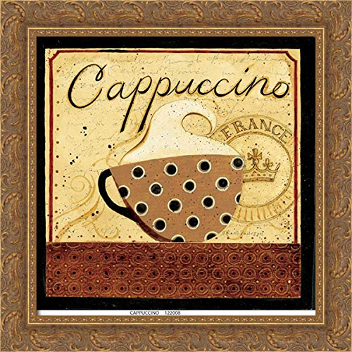 DiPaolo, Dan 20x21 Gold Ornate Framed Canvas Art Print Titled: Cappuccino