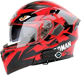 LTOOTA Full-helmet Helmet Motorcycle Bluetooth DOT Certification Modular Open Double Sunshade Anti-fog Helmet Bluetooth Integrated Microphone Built-in Speaker Automatic Answering