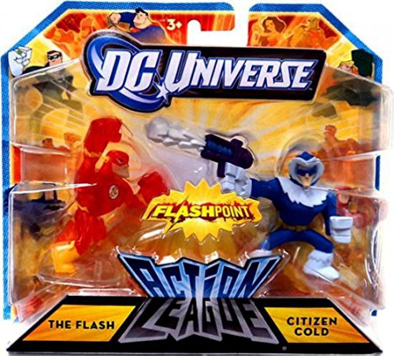 Mattel Dc Universe Action League Flashpoint Mini Figure 2Pack The Flash Citizen Cold
