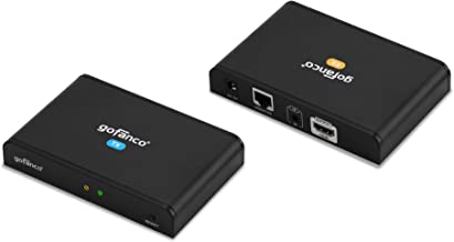 gofanco HDMI Over IP Extender w/Local HDMI Loop Out & IR Remote (1-to-1 or 1-to-Many HDMI Balun Over Cat5e/Cat6 Ethernet), Up to 395ft (120m) at 1080p @60Hz (Part# HDBitTPRO)
