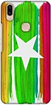 AMZER Slim Fit Handcrafted Designer Printed Snap On Hard Shell Case Back Cover with Screen Cleaning Kit Skin for Vivo V9 - Myanmar Flag- Brush Strokes HD Color, Ultra Light Back Case