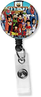 Dragon Ball Z All Characters Retractable ID Card Badge Reel with Alligator Clip Name Nurse Decorative Badge Holder Clip on Card Holders