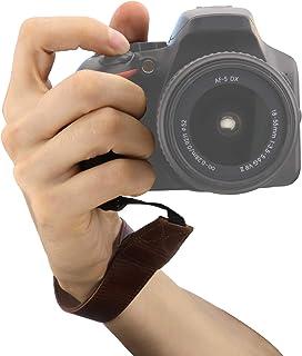 MegaGear MG1411 - Correa de muñeca para cámara réflex SLR y DSLR Color marrón Oscuro
