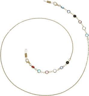 RANHUU Beaded Eyeglass Chains for Women Reading Glasses Cords Colorful Sunglasses Chain Holder Lanyards Eyewear Retainer