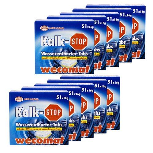 10er Set - Wasserenthärter Tabs wecomat Kalk Stop / Entkalkungstabs
