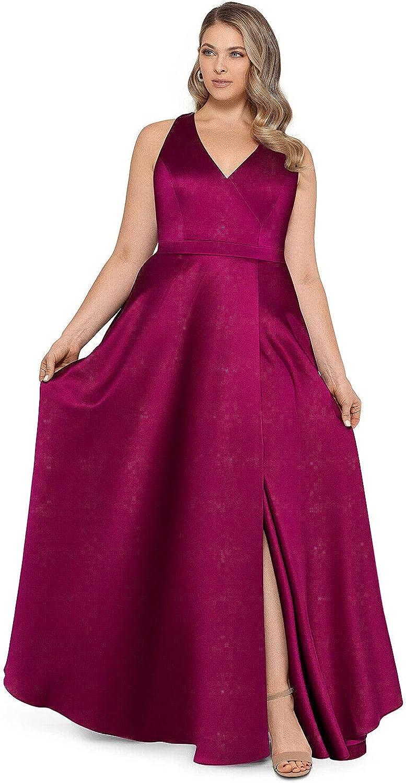 Xscape Womens Plus A-Line Ball Gown Evening Dress Purple