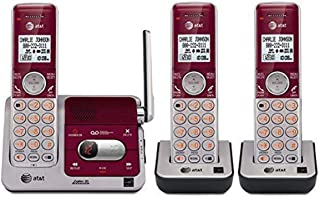 AT&T CL82321 3-Handset Red Cordless Phone with Digital Answering System & Expandable to 12 Handsets