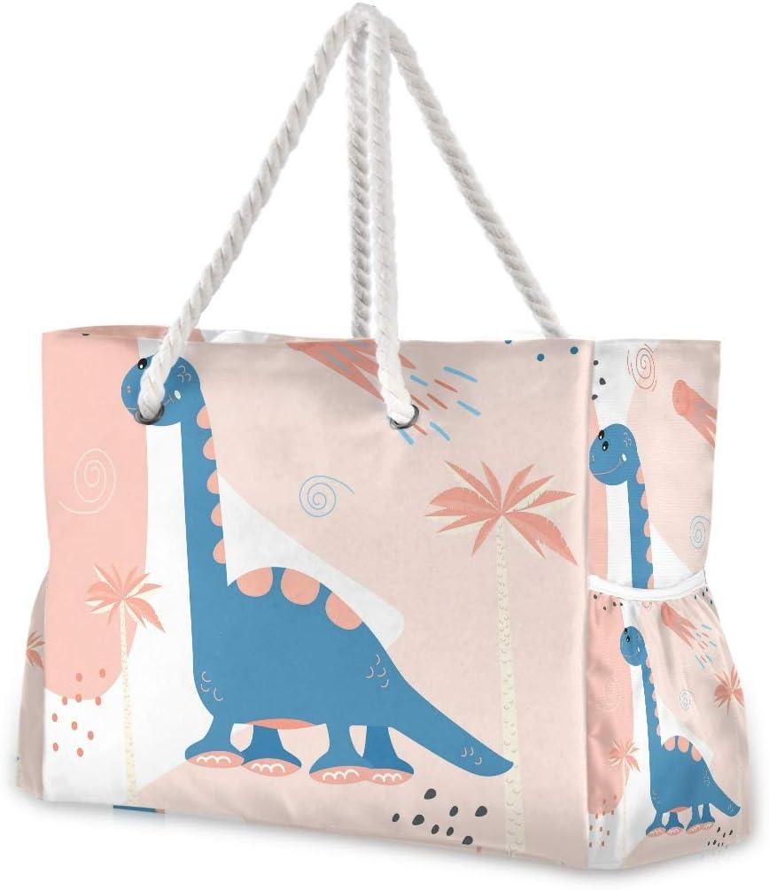 SUABO Beach Bag XXL Dinosaurs Cotton Shoulder Cute Ranking Tucson Mall TOP5 Tote