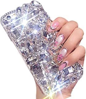 Bling Diamond Case for iPhone 6S Plus/6 Plus 5.5 inch,Aearl 3D Homemade Luxury Sparkle Crystal Rhinestone Shiny Glitter Full Clear Stones Back Phone Cover for iPhone 6 Plus/6S Plus - Clear