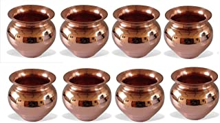 Dorvik Enterprises Brass Pooja Kalash Set (Golden)