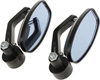 Generic Universal Oval Rear View Mirror for Bikes