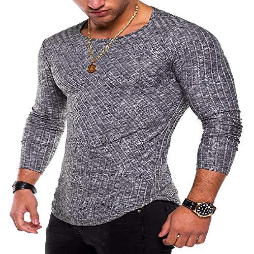 Herren Jugend Persönlichkeit Slim Fit Pullover Knabbern Langarm Herren T-Shirt
