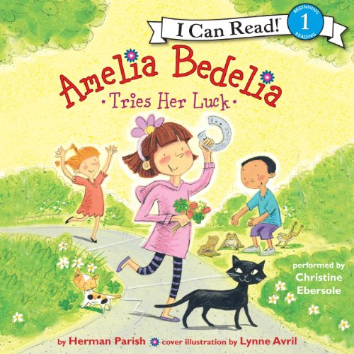Amelia Bedelia Tries Her Luck audiobook cover art