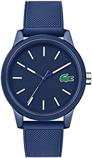 Lacoste Mens Quartz Watch, Analog Display and Silicone Strap 2010987