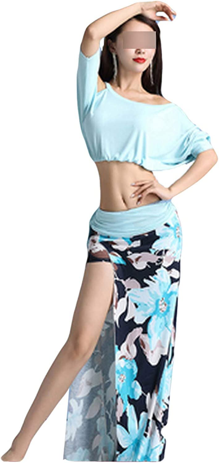 Belly Dance New Suit Female Adult Performance Clothes Woman Ice Silk Long Skirt Exercise Clothing