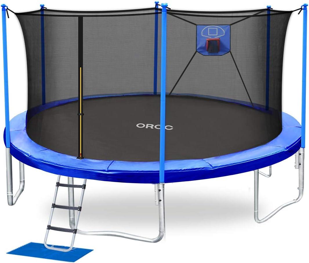 ORCC 海外並行輸入正規品 Trampoline 爆安 Weight Capacity 450LBS 15 10 8FT 14 12 Bas Kids
