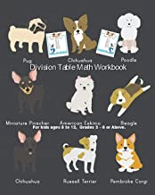 Division Table Math Workbook: Pug Dog Division Table Math 1 to 25 Activity Book the Fun Way for Kids Ages 8 and 12, Grades 3 to 6 or Above, The Illustration Method of Learning the Division Workbook
